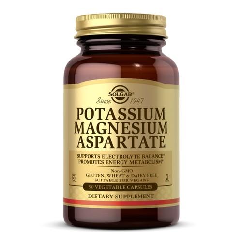 Potassium Magnesium Aspartate Vegetable Capsules 90 V Caps by Solgar