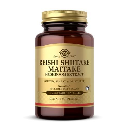 Solgar - Reishi Shiitake Maitake Mushroom Extract Vegetable Capsules 50 V Caps by Solgar