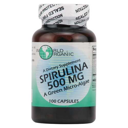 World Organics - Spirulina 100 caps by World Organics
