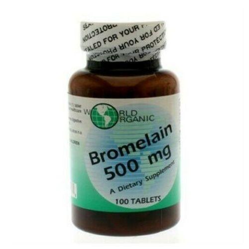 World Organics - Bromelain 100 caps by World Organics