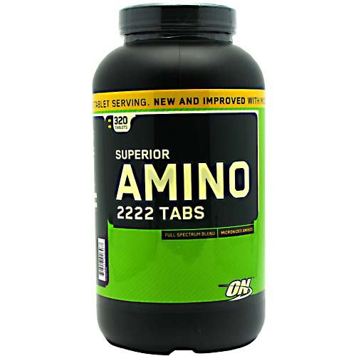 Amino 2222 320 Tabs by Optimum Nutrition Easier to Swallow 2 Tablet Serving Full Spectrum BlendMicronized AminosNew and Improved With Micronized Amino Acids