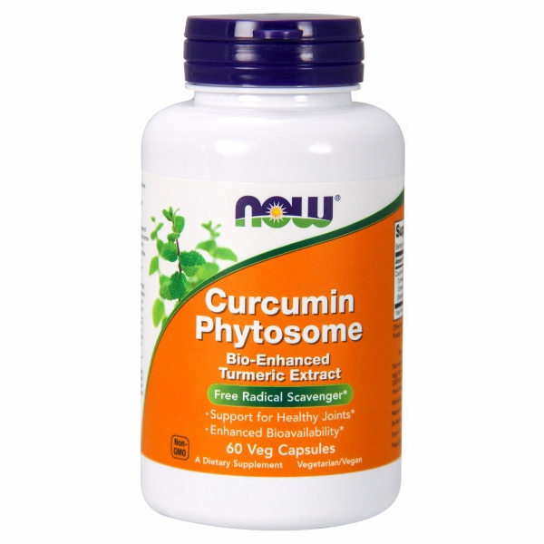 Curcumin Phytosome 60 Vcaps 500 mg by Now Foods