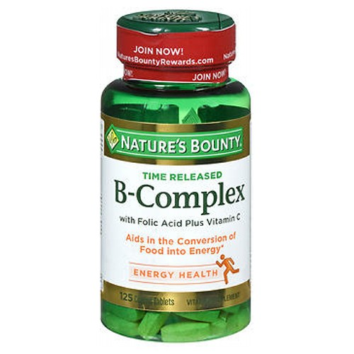 Natures Bounty B Complex Plus C Time Release High Potency Vitamin 125 tabs by Nature's Bounty